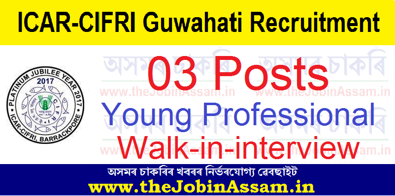 ICAR-CIFRI, Guwahati recruitment 2021