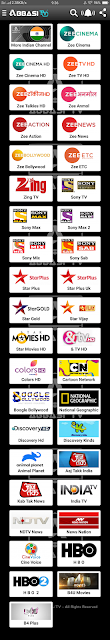 Indian Channels List of Abbasi TV