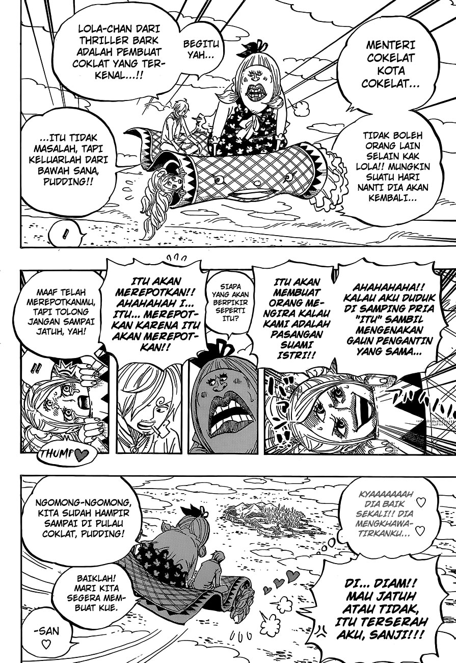Baca online One Piece – Chapter 879 : Satu Dari Tiga Komandan Manis Big Mom, Katakuri