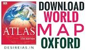 Download Oxford World Map -Hindi Medium - UPSC IAS
