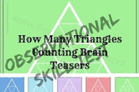 Observational Skill Test-How Many Triangles Counting Brain Teasers
