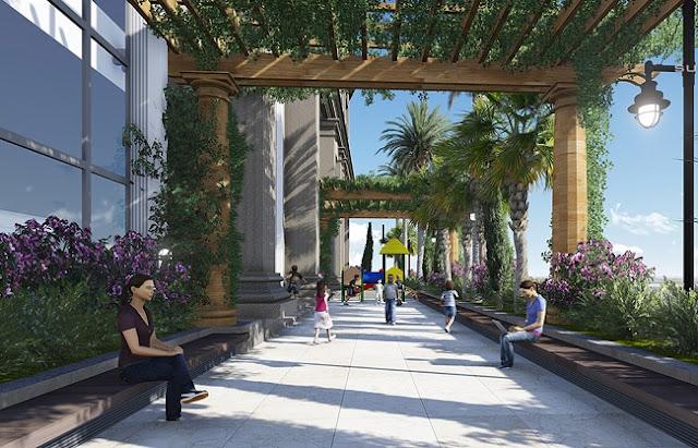 Sân vườn Chung cư Sunshine Palace Lĩnh Nam Hoàng Mai