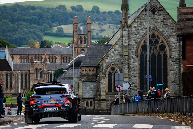 Craig Breen on Wales Rally GB in Hyundai i20 WRCar