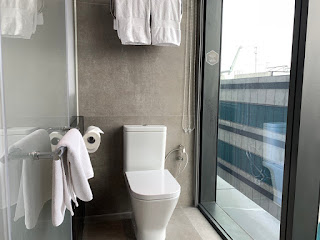 YOTEL toilet with floor-to-ceiling windows