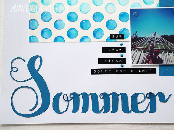 Sommer Layout Scrapbooking cest las schnipselritter bastelritter stampin up zig kuretake clean color real brush