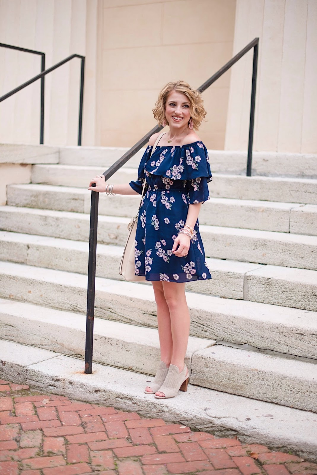 Navy Dress - Click through to see more on Something Delightful Blog!