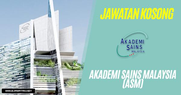 jawatan kosong akademi sains malaysia 2018