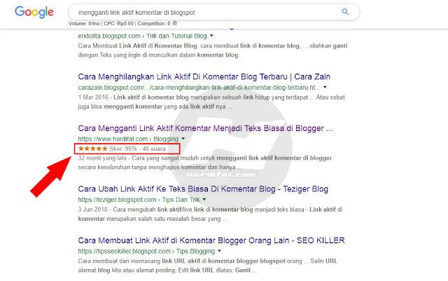Cara Memasang Rating Bintang di Postingan Pencarian Google Blogger