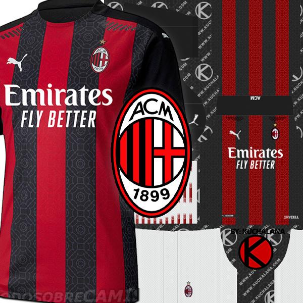 AC Milan Kits 2020/21 - DLS2019 Kits - Kuchalana