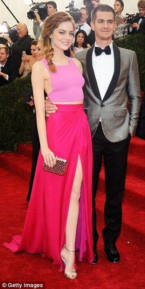 Emma Stone and Andrew Garfield at the Met Gala 2014