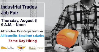 Walk-in interviewing: Hundreds of Tradesmen needed in the Industrial Trades Job Fair.