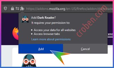 Croben.com Dark Mode Websites Step 6