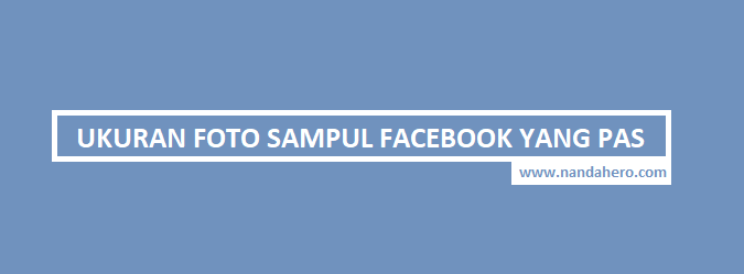 ukuran sampul fb facebook cover size photoshop