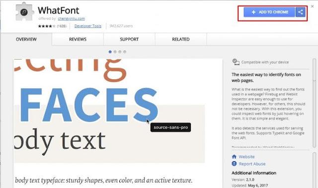 Cara Mengetahui Tipe atau Jenis Font yang Digunakan dalam Gambar