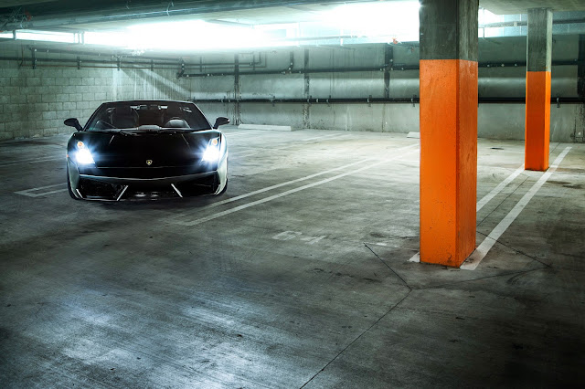 blacked out gallardo