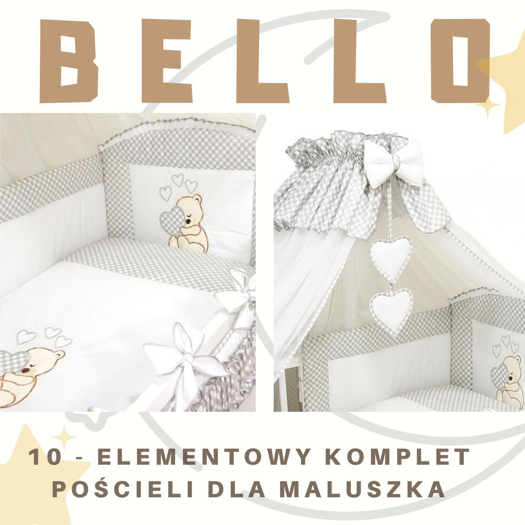 10 - elementowy komplet pościeli dla maluszka od BELLO - wygoda i piękno warte swojej ceny!