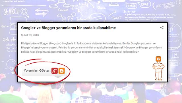 Google+ ve Blogger yorumları
