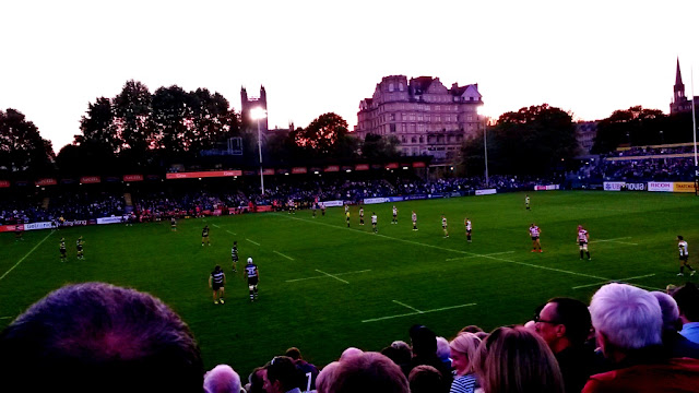 Rugby match Bath vs Gloucester