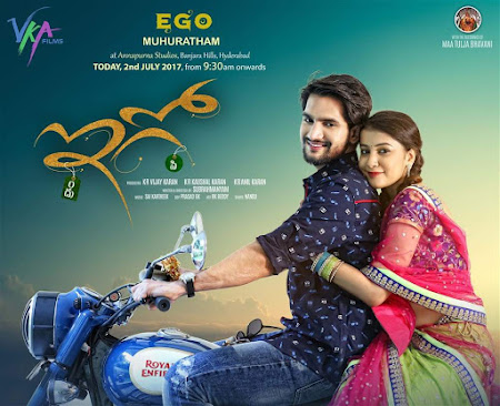 Poster Of Ego Full Movie in Hindi HD Free download Watch Online Telugu Movie 720P