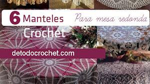6 patrones de manteles para tejer al crochet / Especial Mesa Redonda