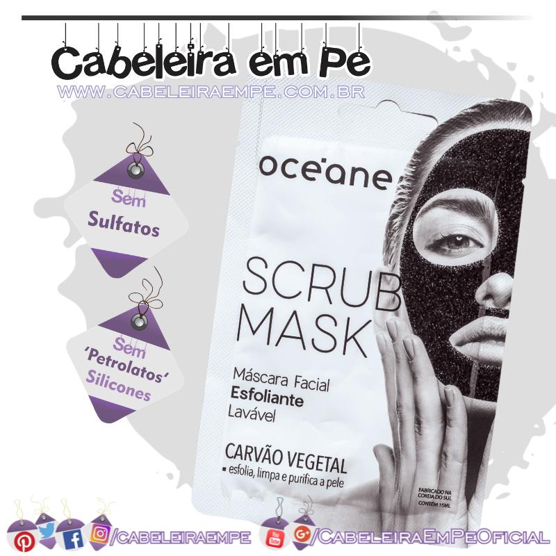 Máscara Facial Esfoliante de Carvão Vegetal Scrub Mask - Océane