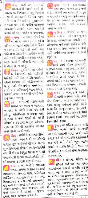 July - Gujarati Rashifal and Rashi Bhavishya 2021