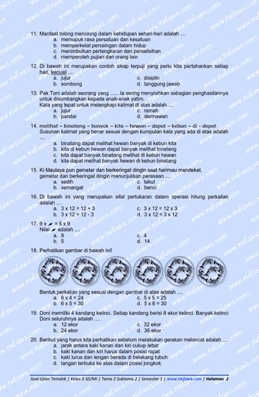 Soal Tematik Kelas 3 Tema 2 Subtema 2 : tematik, kelas, subtema, Tematik, Kelas, Subtema, Semester, Tahun, Dunia, Edukasi