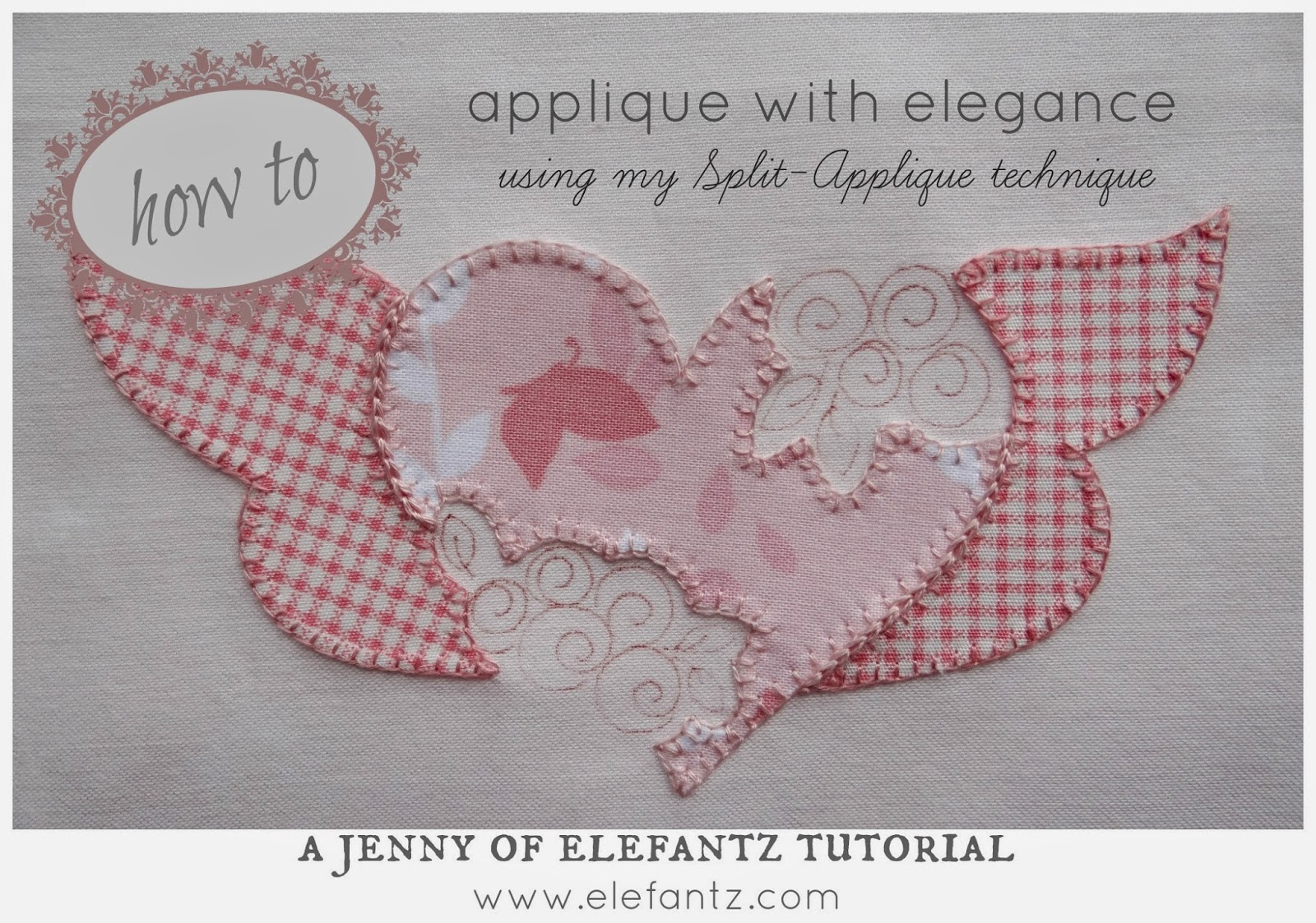 how to do a blanket stitch for applique