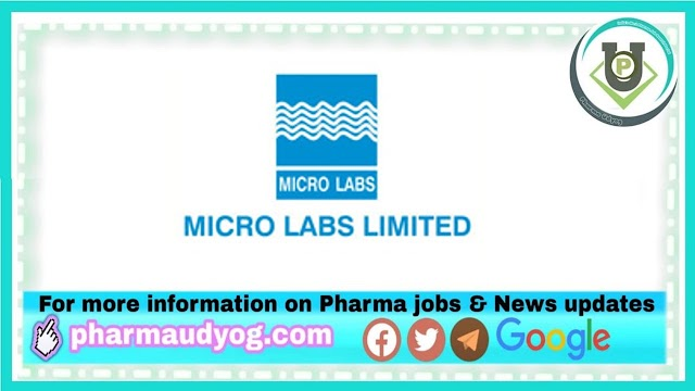 Micro Labs | Walk-in interview for Production/QC on 10th Apr 2021