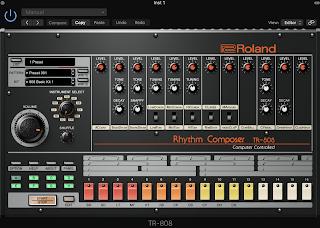 Roland社のTR808。ステップシーケンサーがついてる