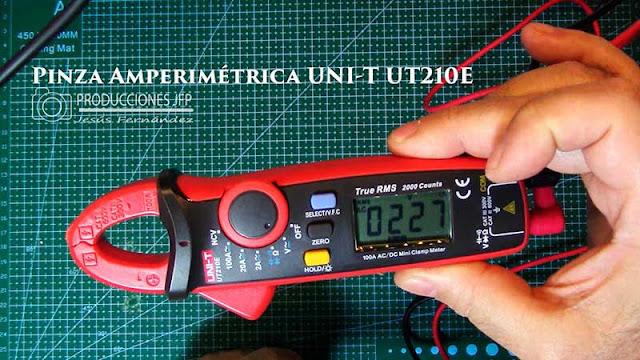 Pinza Amperimétrica UNI-T UT210E - Multímetros Digitales