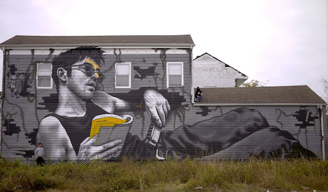 """""""Louisiana Blue Note"""" New Street Art Piece by MTO in New Orleans, USA"""