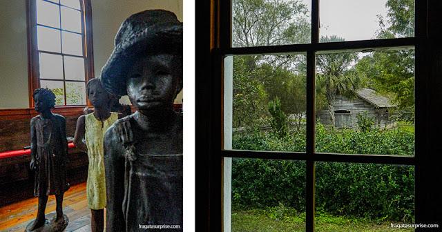 memorial às crianças escravizadas na Whitney Plantation, Luisiana, EUA