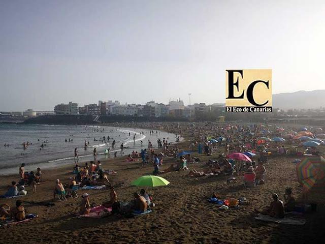 Increíbles imagines de una playa de Telde Gran Canaria, Covid-19