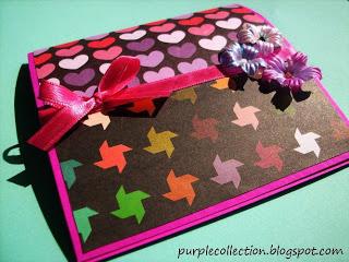 Love Pattern Card, ribbon, flower, pattern, love
