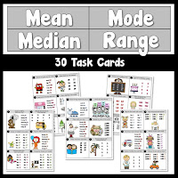 Mean Median Mode Cards
