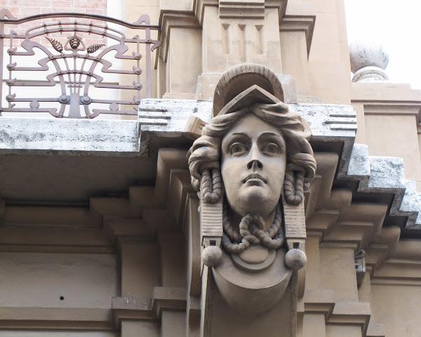 Detail of the facade, Palazzo Pola e Todescan, Via dei Brunelleschi, Florence