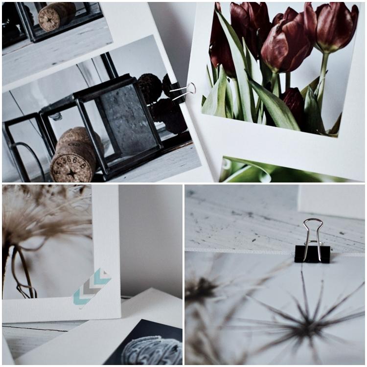 Wie kann ich Fotos ohne Rahmen aufstellen?