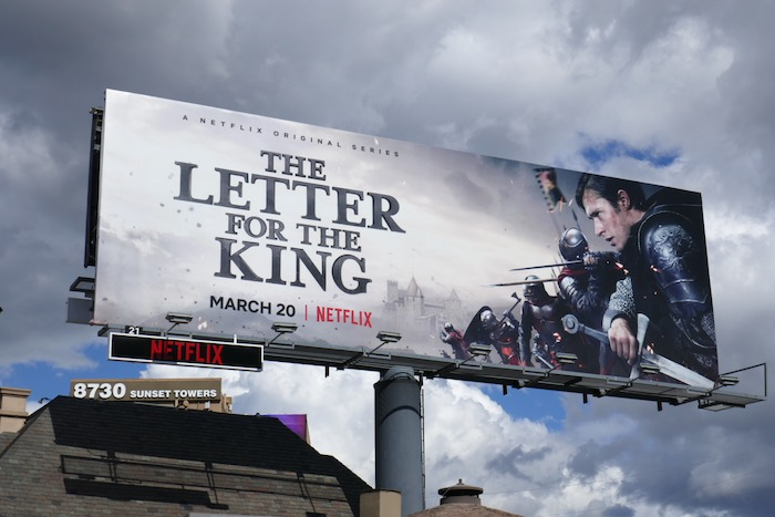 Letter for the King series premiere billboard