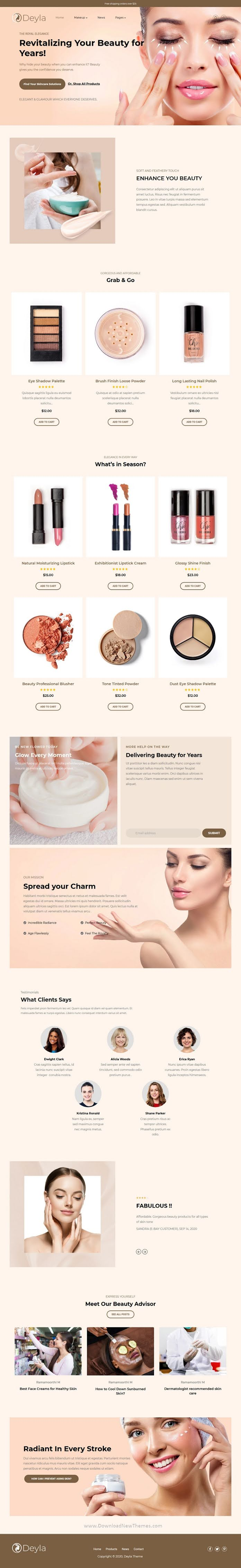 Best Makeup and Beauty Product Shopify Theme