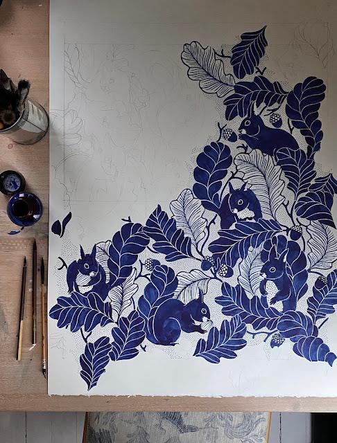 Oak tree tails wallpaper