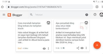 Cara rubah tampilan blogger