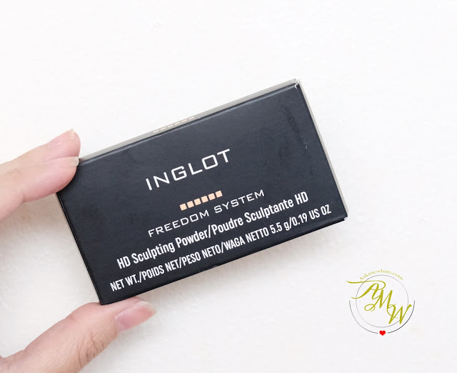 a photo of Inglot Freedom System HD Sculpting Powder review in shade 505