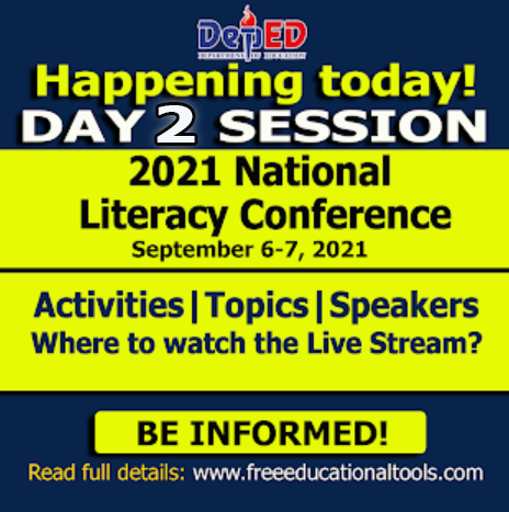 Day 2 Session of 2021 National Literacy Conference | Activities | Topics and Speakers