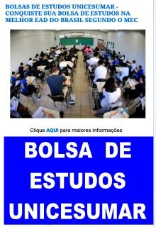BOLSAS DE ESTUDOS UNICESUMAR. CLIQUE NO BANNER