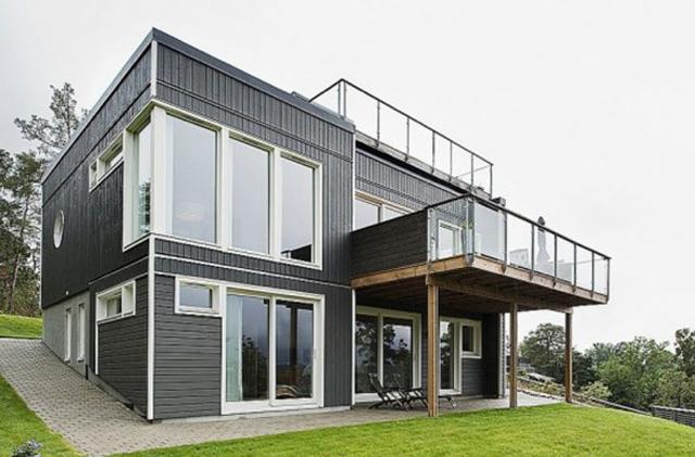 Swedish Homes Designs Front Views » Modern Home Designs