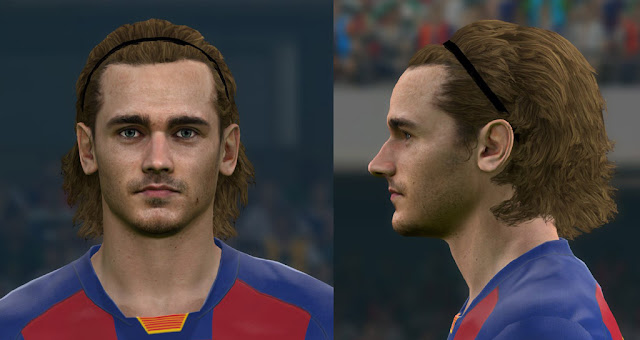 Pes 2017 Faces Antoine Griezmann Barcelona With New Hair