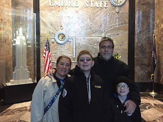 David Brodosi and fmaily visits the Empire State Building