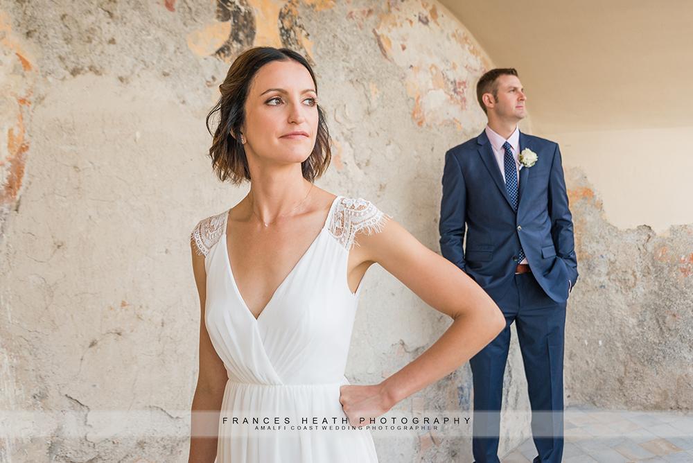 Bride and groom portrait in Amalfi