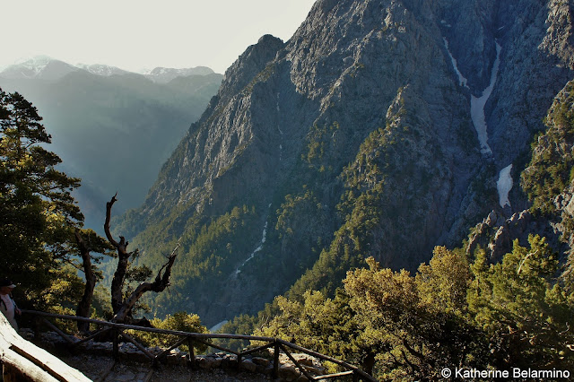 Xyloskalo Trailhead Samaria Gorge Hike Crete Greece